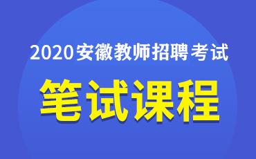 2020安徽教师招聘笔/面试课程